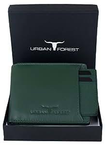 Urban Forest Dexter Green Leather Wallet for Men
