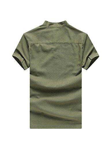 Legou Herren Langarm Summer Casual T-shirt Dark Grau