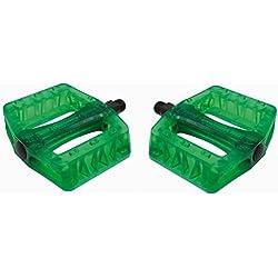 PCP plástico Pedales Gusset, verde
