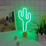 LED-grüner Kaktus LED Neon Sign Neon Light Batterie oder USB Powered Neon-Licht-Wand-Dekor-Neon-Lampen-Nachtlichter für Kind-Kind-Geschenke Schlafzimmer Hauptdekoration Partei Indoor Nacht LED dekora