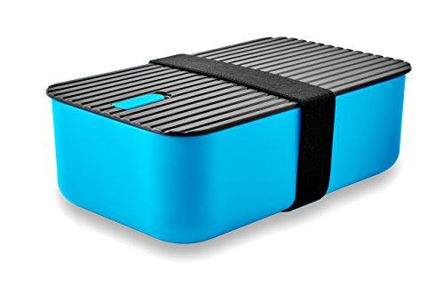 LeOx- Lunchbox Bento Box Brotdose Aufbewahrungsdose Lunchbox Kinder Essen to go Food Container Lunchbox mit Trennwand Lunchbox zwei Fächer – (Blau)