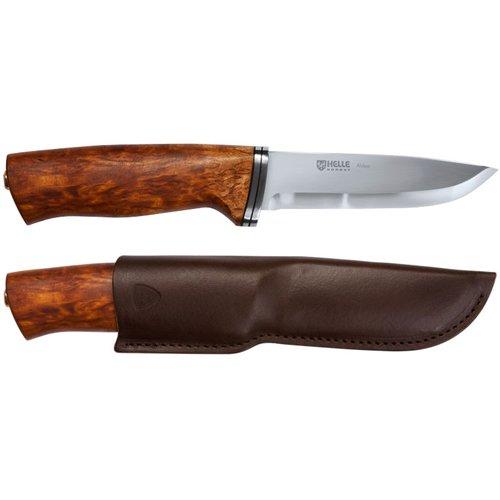 helle-jagd-outdoormesser-alden-sandvik-12c27-rostfrei-birkenholz-griff-lederscheide