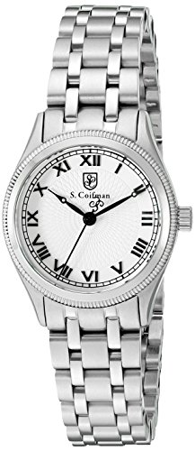 S. Coifman Women's 'Lady Bracelet' Swiss Quartz Stainless Steel Automatic Watch, Color:Silver-Toned (Model: SC0340)