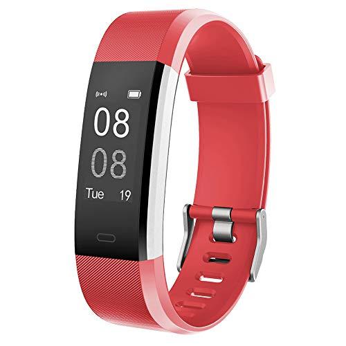 YAMAY Fitness Armband mit Pulsmesser Wasserdicht IP67 Fitness Tracker Smartwatch Aktivitätstracker Pulsuhr Schrittzähler Uhr Sportuhr für Damen Herren Anruf SMS SNS Beachten für iPhone Android Handy