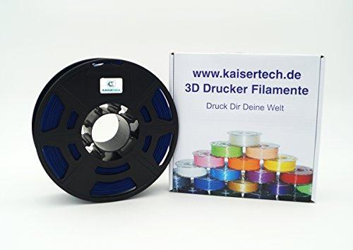 Kaisertech Filament für 3D Drucker 1kg PLA/ABS 1.75mm / 3mm - Premium Qualität & verschiedene Farben für MakerBot RepRap MakerGear Ultimaker uvm. 22 Farben (PLA 1.75mm, Navy Blau)