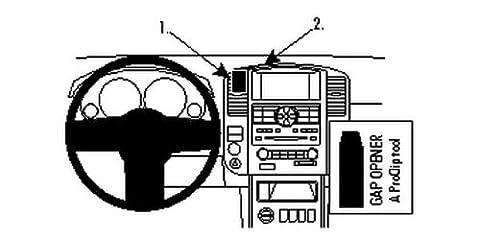 Brodit 854658 Brodit ProClip 854658 Center Mount für Nissan Pathfinder 10-12