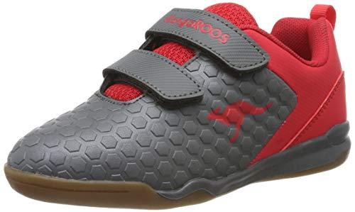 KangaROOS Unisex-Kinder Speed Court V Multisport Indoor Schuhe, Rot (Steel Grey/Red 2015), 31 EU