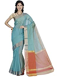 The Chennai Silks - Seco Silk Cotton Saree - Cadet Blue - (CCRISC314)