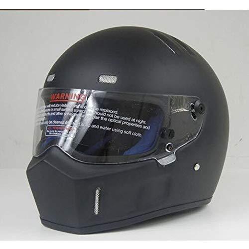 MYSdd Fiberglasvollhelm Motorradhelm Futter mit gutem Deo, Schweißabsorption und Belüftung, verwendet Werden - Schwarz X XXL