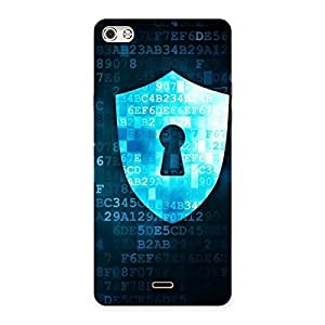 Digital Secure Print Blue Back Case Cover for Micromax Canvas Silver 5