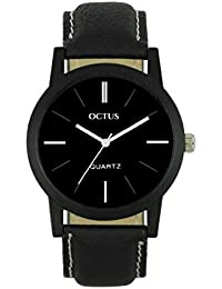 Octus Dark Black Collection Round Dial Analog Watch For Men