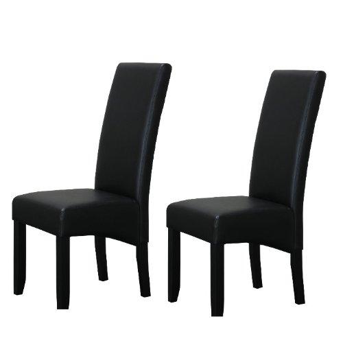 THOR Hochlehner Stuhl Sitz Ess Gruppe schwarz Kunstleder ()
