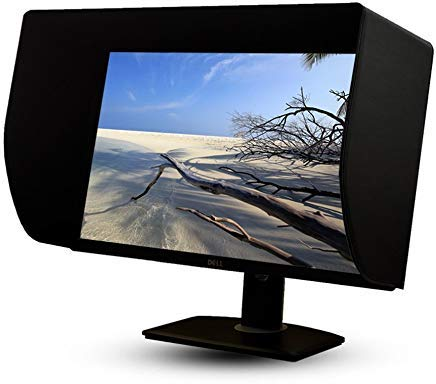 iLooker 27E 27 Zentimeter LCD LED Video Monitor Hood Sonnenschutz Sunhood für Dell HP ViewSonic Philips Samsung LG Eizo NEC ASUS Acer BenQ AOC Lenovo, passt Monitor Rahmen breite 635-655 mm Lcd Monitor Hood