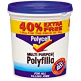 Sikkens PLCMPPR1KGVP Polycell MPPR1KGVP Multi Purpose Polyfilla Ready Mixed 1kg + 40% Free by Sikkens