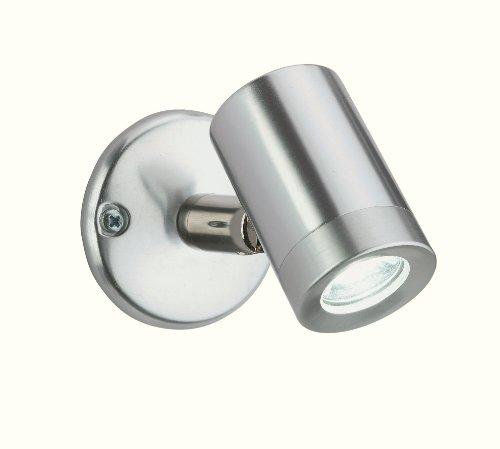 /1 x 1 Watt LED, Ip44, für drinnen und draußen, 1-LED Wand Außenleuchte aus Aluminium, mit LED, weiß