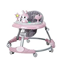 Fence-products Baby Walkers Adjustable Height Anti Rollover Baby Walker Folding Easy Clean Plate Toddler Walker For 6-18Months Boys Girls Child CJ