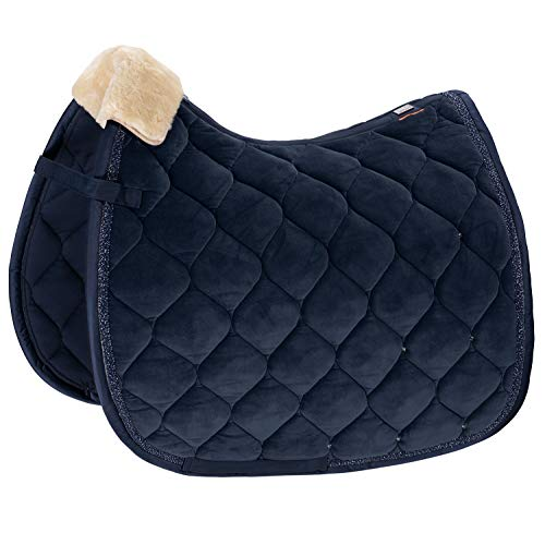 Eskadron Platinum Velvet Crystal Saddle Pad Dressage Navy