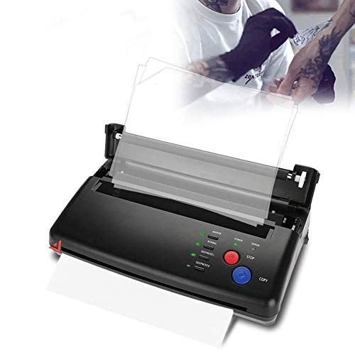 Professional Thermodrucker Tattoo Thermo Kopierer Tragbare A4 Thermische Tattoo Transfer Maschine Druckergerät Schablonen Thermokopiere Drucker(EU)