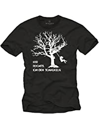 Lustiges Fun T-Shirt mit Spruch MIR REICHTS ICH GEH SCHAUKELN weiß Herren Größe S-XXXL