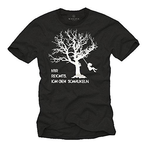Lustiges Fun T-Shirt mit Spruch MIR REICHTS ICH GEH SCHAUKELN schwarz Herren Größe XXL