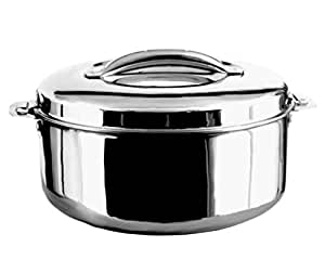 Preethi Hot Pot Stainless Steel Casserole, 2.5 Litres, Silver