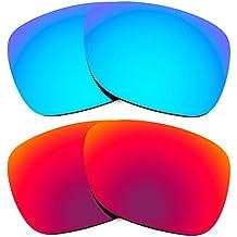 Combo de 2 pares de lentes Revant polarizados, de reemplazo, para Ray Ban Justin 54mm RB4165 K005