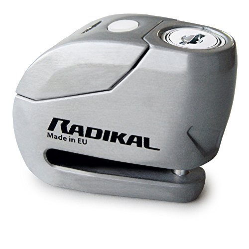 Radikal RK9Z Candado Antirrobo Moto Disco Alarma 120db + Warning, ø6, Fabricado...