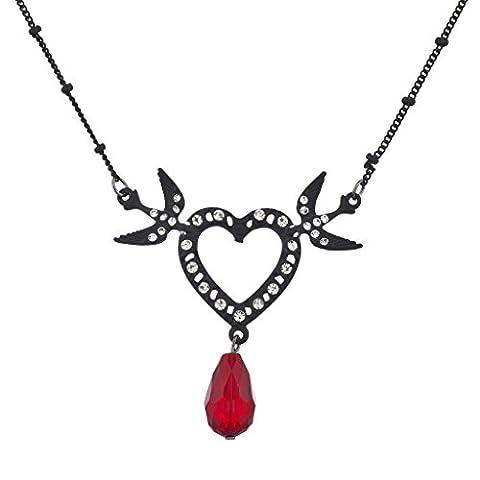 Lux Accessoires à bascule Noir Cœur plaqué et colombe Pave