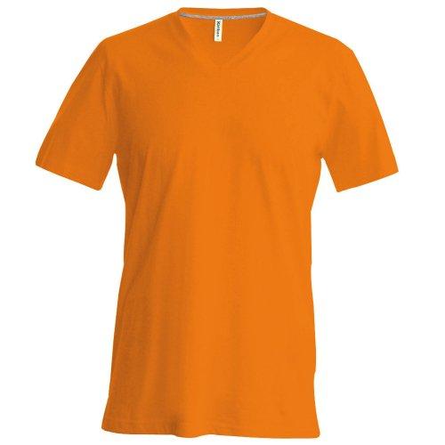 Kariban Herren T-Shirt Slim Fit V-Ausschnitt Red