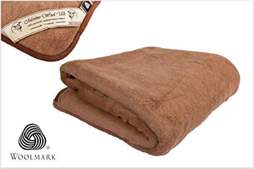 Naturhaar Unterbett 100% Merino Wolle 140x200cm Kamelwolle