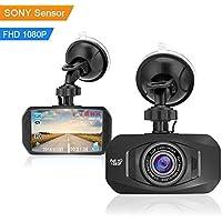 CUagain 1080p Full HD cámara del coche tablero de la cámara 170 ° gran angular 2.7 pulgadas LCD del tablero de la cámara con Sony Sensor HD visión nocturna bucle de grabación del monitor del estacionamiento con