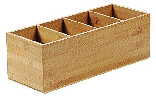 KESPER 70850 Besteckkasten 4-fach aus FSC-zertifiziertem Bambus / Besteckhalter / Box