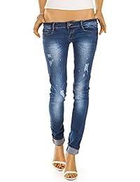 Bestyledberlin Damen Röhrenjeans, Skinny Jeans, Baumwoll Hüftjeans, enge Hosen j33f