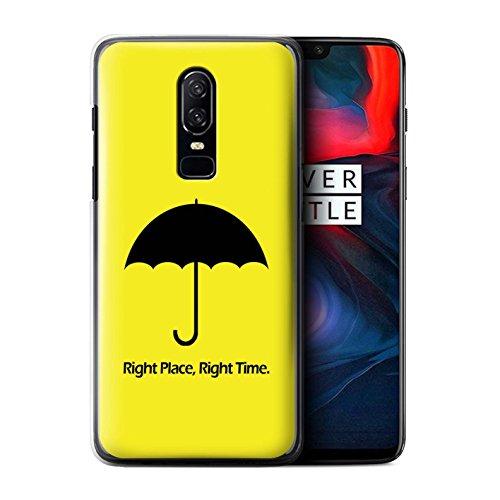 Stuff4 - Funda para teléfono móvil, 1 Plus-CC, Divertida colección de televisión Sitcom, Umbrella/Quote, OnePlus 6