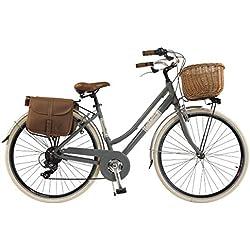 Vélo Citybike Byciclette CTB Femme Dame Vintage Retro Via Veneto Aluminium Gris