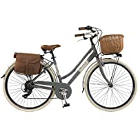 Via Veneto by Canellini Bicicleta Bici Citybike CTB Mujer Vintage Retro Via Veneto Aluminio (Gris, 46)