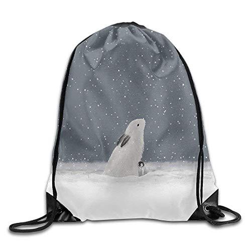 False warm warm Rabbit Art Drawstring Backpack Rucksack Shoulder Bags Training Gym Sack for Man and Women - Roxy Rolling Rucksack
