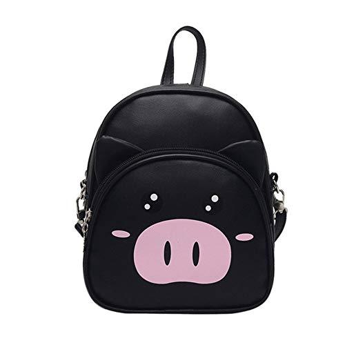 HRUIIOIH Kinderrucksack, süße Kleinkind Tier Mini Kindertasche für Mädchen Jungen Alter 2-6 Jahre,Black