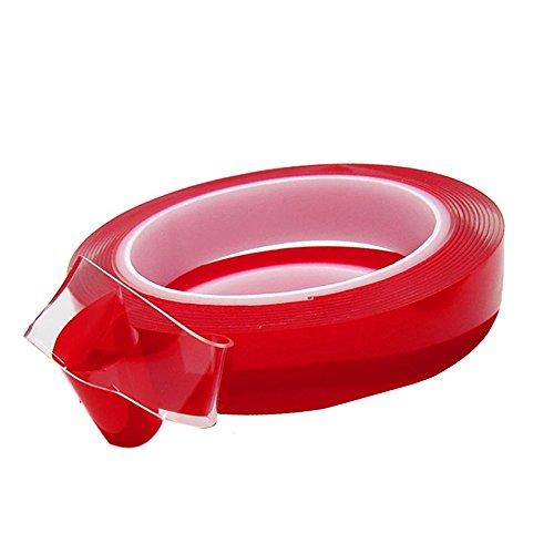 12mm breit Doppelseitiges Klebeband EXTRA STARK – Sticky Tape Montageklebeband für 220V Led-Streifen Hitzebeständig, Bau, Auto, Haus & Werkstatt (12mm breit, 1mm dick, 5m lang)1 PC (Hitzebeständige Doppelseitige, Klebeband)