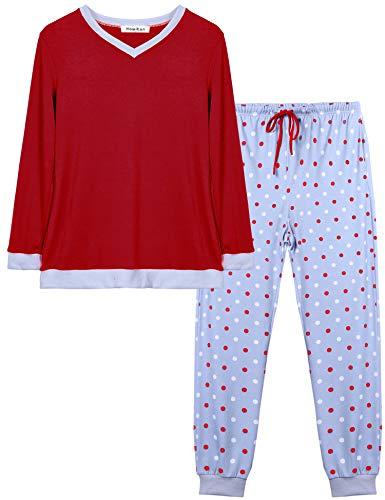Hawiton Damen Baumwolle Pyjama S...