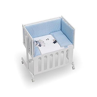 Minicuna Minana Colecho Coordinado Volamos Baby Azul