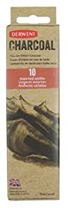 Derwent Assorted Willow Charcoal Pack of 10 Natural Willow Sticks