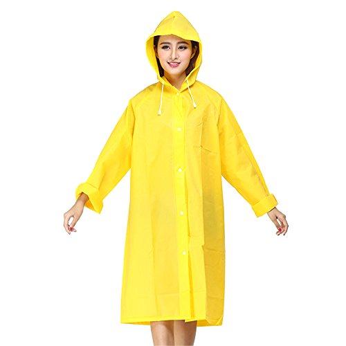 Für Erwachsene Gelb M&m Kostüm - Delmkin Regenmantel Mode Unisex EVA Regenjacke Regenmantel für Erwachsene (Gelb, M)