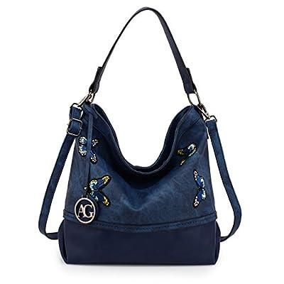 LeahWard Women's Fashion Medium Shoulder Handbags Soft Zipper Faux Leather Bags