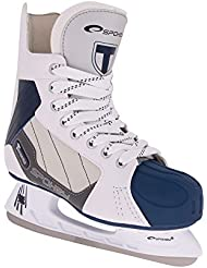 SPOKEY® TORONTO Patines de hockey sobre hielo | Patines | 41-46 | Cuchillas de hockey sobre hielo | Acero inoxidable | Casquillo reforzado, Color:white / blue;Spokey Größen:44