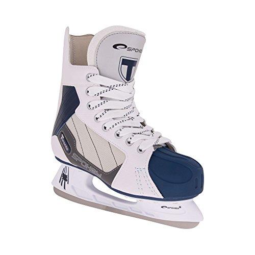 SPOKEY® TORONTO Eishockeyschlittschuhe | Schlittschuhe | 41-46 | Eishockeykufen Edelstahl | Ergomisch | Verstärkte Kappe