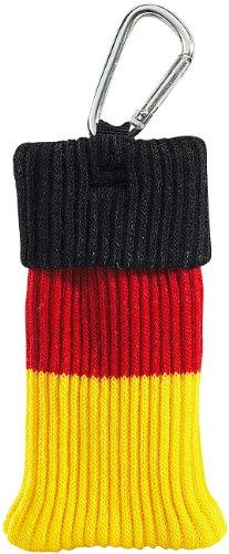 """Xcase Fan Artikel: Smartphone-Socke Deutschland mit Karabiner, für Geräte bis ca. 4"""" (Fanartikel)"""
