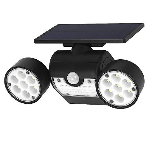 INDARUN 30 LED Lampes Solaires Extérieur Etanche IP65, Spot Solaire avec Détecteur de Mouvement, Lampe de Sécurité Applique Solaire Sans Fil pour Jardin, Garage, Cour, Escalier, Patio