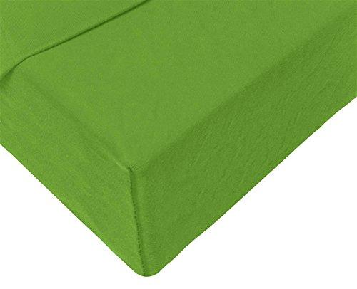 Double Jersey - Spannbettlaken 100% Baumwolle Jersey-Stretch bettlaken, Ultra Weich und Bügelfrei mit bis zu 30cm Stehghöhe, 160x200x30 Grün - 4