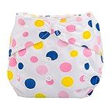 Tefamore Pañales Bebé recién nacido Paño de verano lavable reutilizable ajustable (A)